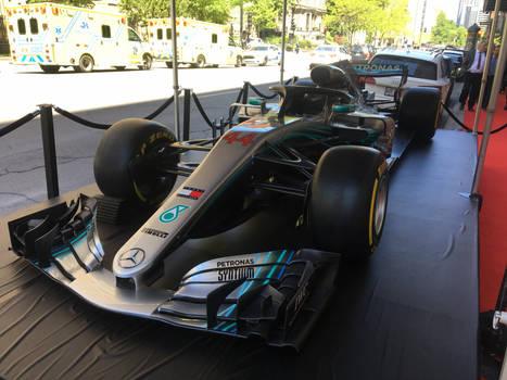 Hamilton's Mercedes AMG F1 W09 EQ Power+