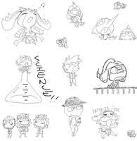 doodles by worstmate-hikiki