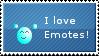I love Emotes Stamp
