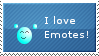 I love Emotes Stamp by Crystalstar1001