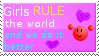Girls rule the world Stamp by Crystalstar1001