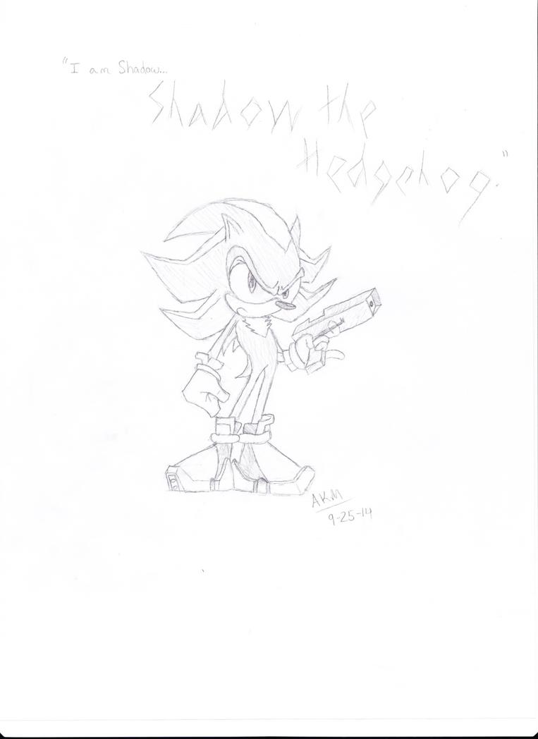 Shadow the Hedgehog - Sketch by Crystalstar1001