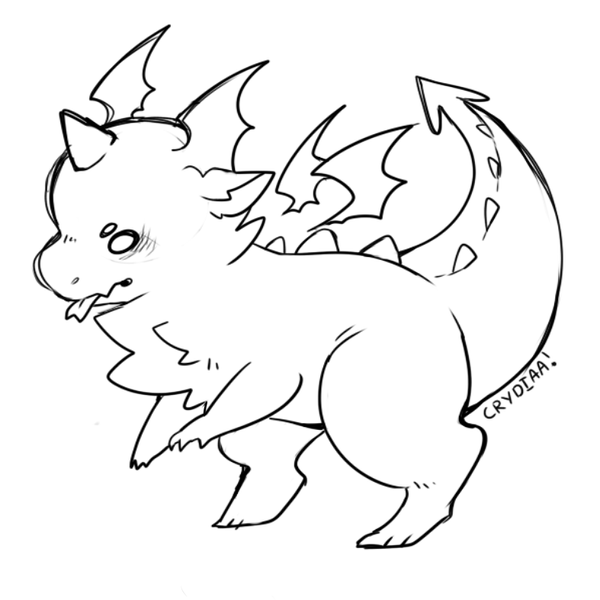 Dragon Lineart : Dragon lineart by crydiaa on deviantart