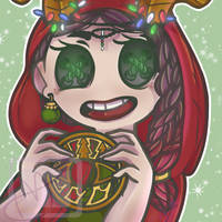 2018 X-Mas Commission DarkBeauty of RoseQuinzel