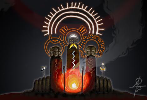 three pagan idols