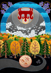 Russian folk tale Kolobok by Sukharev