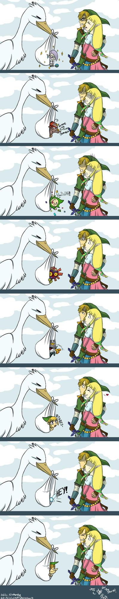 Zelda: The Stork by Kilala04