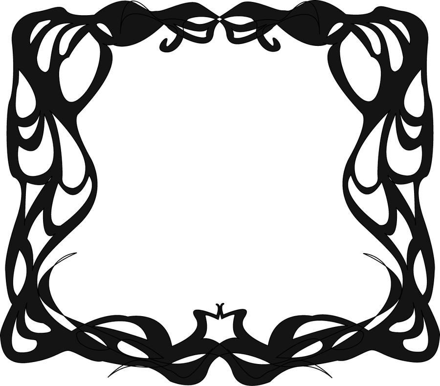 art nouveau border hw by justencase on deviantart