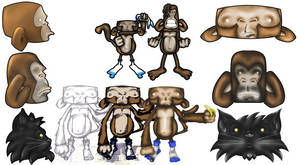 Monkeys by StevePaulMyers