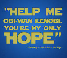 Help Me Obi Wan Kenobi by StevePaulMyers