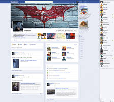 Batman on Facebook by StevePaulMyers