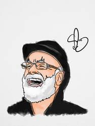Terry Pratchett by StevePaulMyers