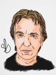 Alan Rickman by StevePaulMyers