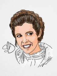 Carrie Fisher by StevePaulMyers