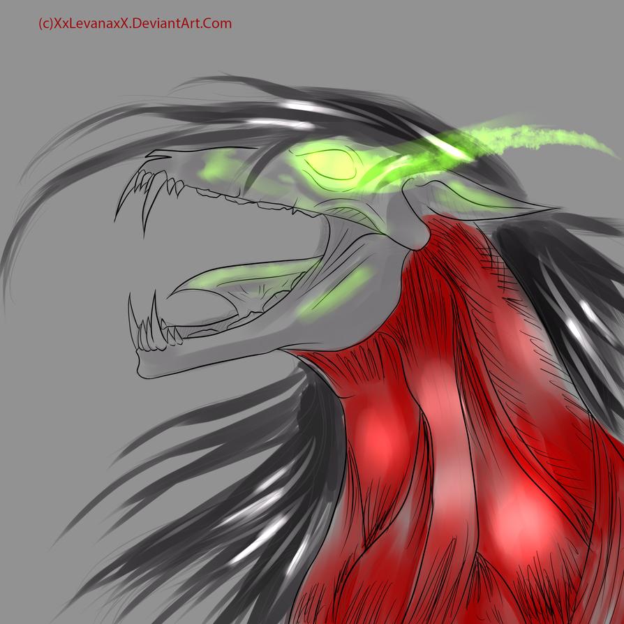 Undead Eren Horse by XxLevanaxX