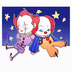 Sleepy clowns by XxLevanaxX