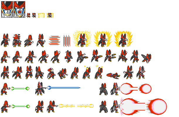 Dbz Sprite Sheets Related Keywords Suggestions Dbz Sprite Sheets