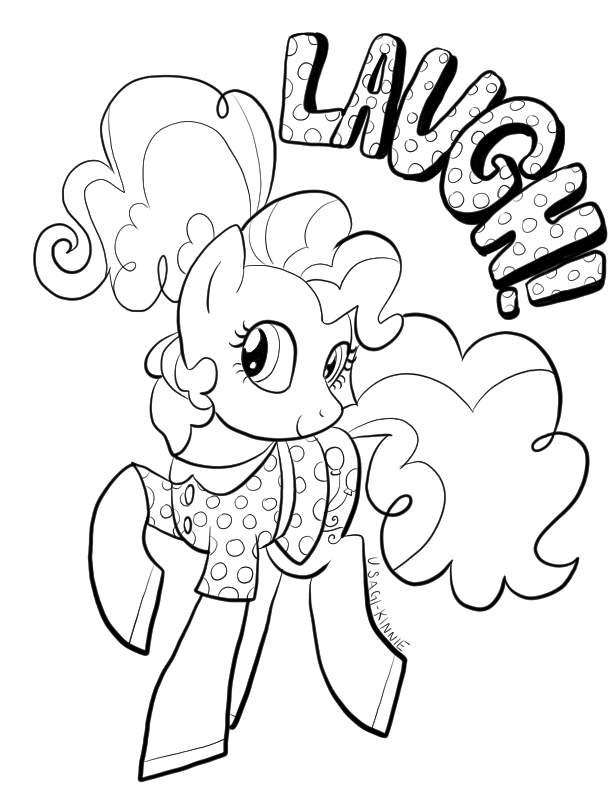 Pinkie Pie Coloring Page By Usagi Kinnie On Deviantart