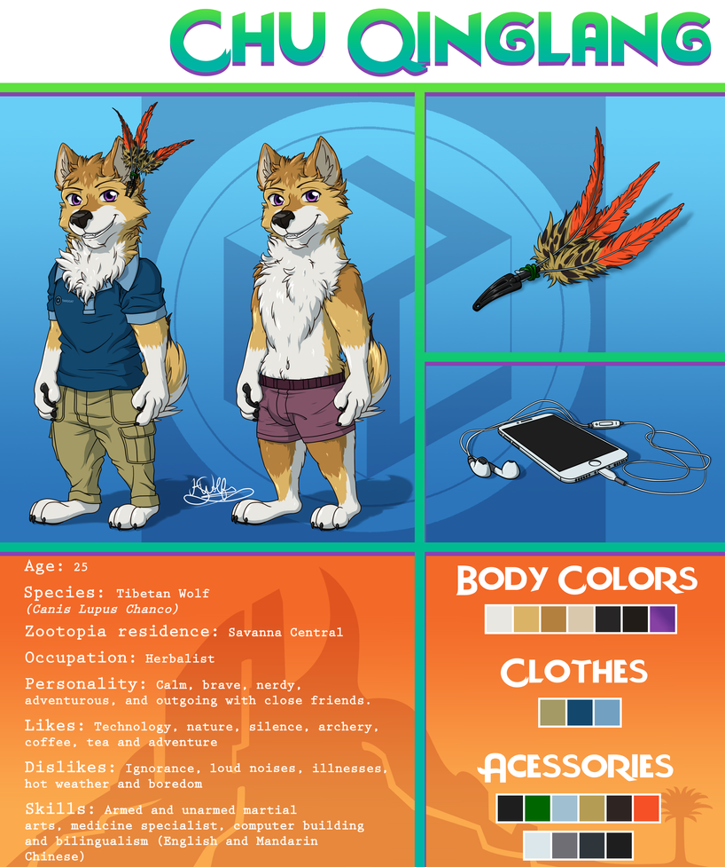 Chu Qinglang Ref Sheet by KingSejong