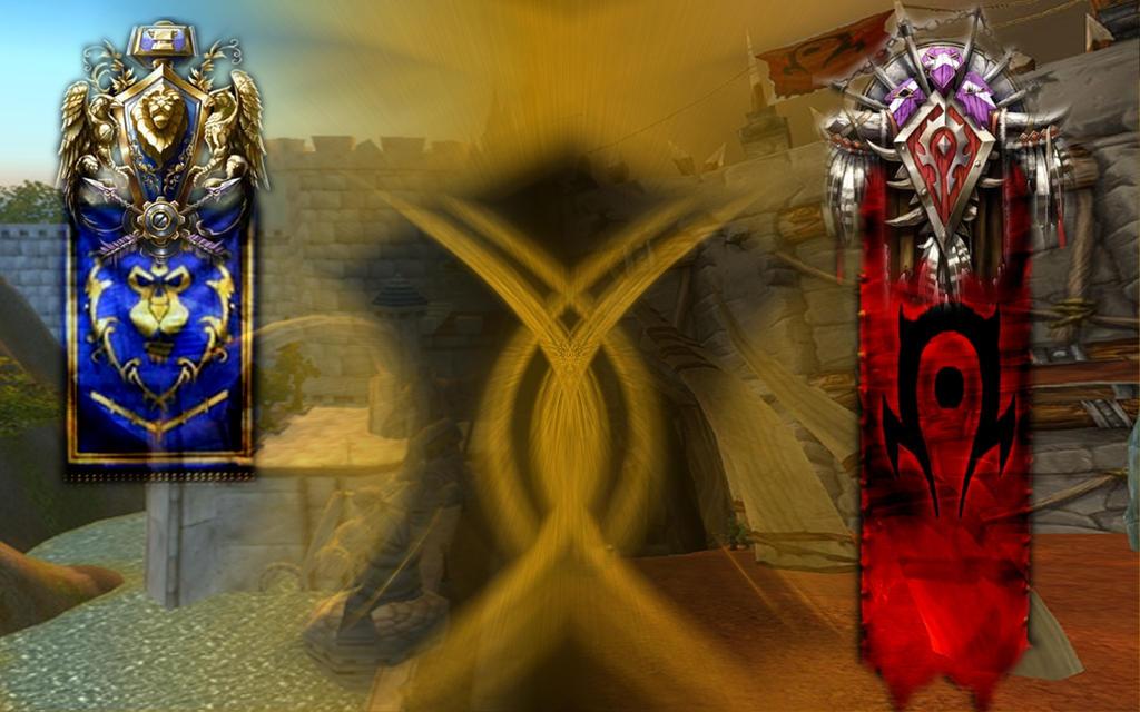 World Of Warcraft Wallpaper Alliance Vs Horde