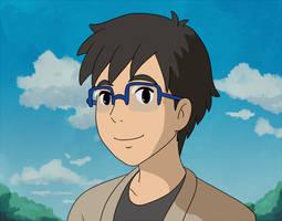Yuuri [Ghibli style] by Pochayuuris