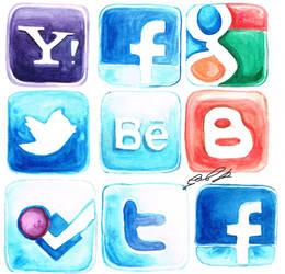 Social Media Icons 1 by camila-bunny