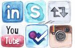 Watercolor Social Media icons 2