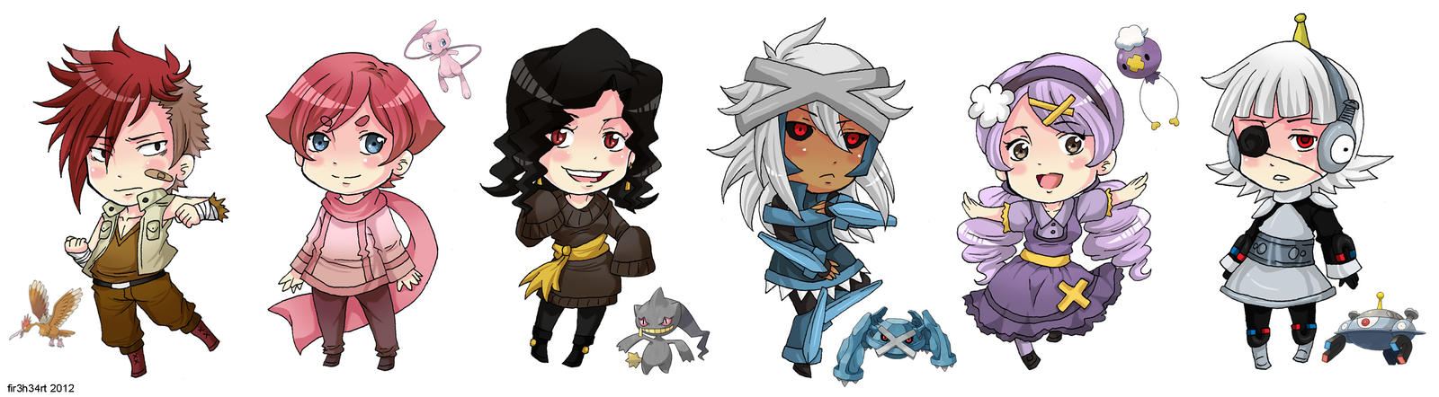 PKMN: Random Gijinka Chibis by fir3h34rt