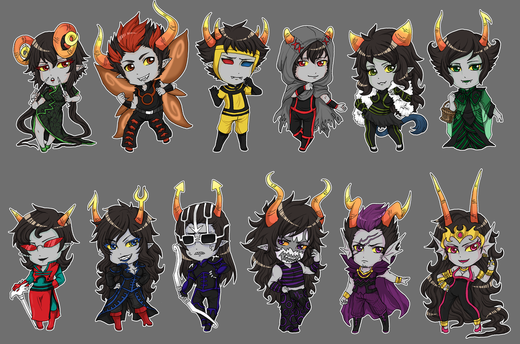 HS: Ancestor Troll Stickers by fir3h34rt