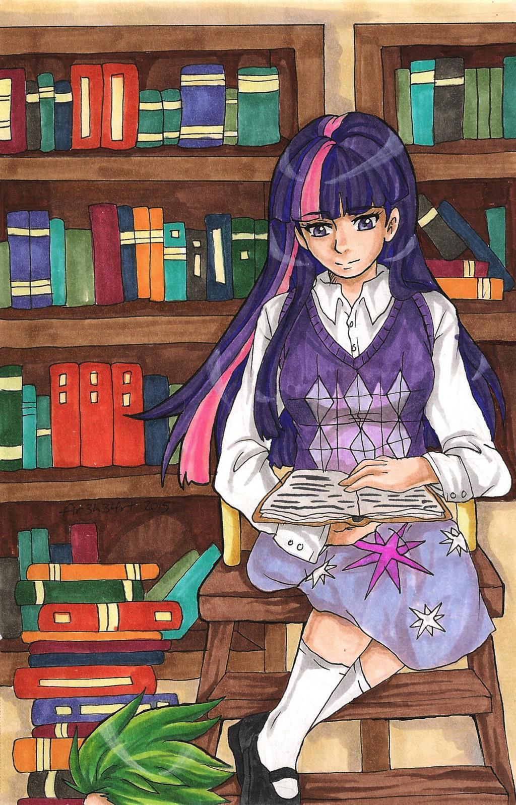 MLP: Book Lover by fir3h34rt