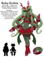 Steven Universe OC: Ruby Zoisite by fir3h34rt