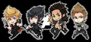 Final Fantasy XV Stickers