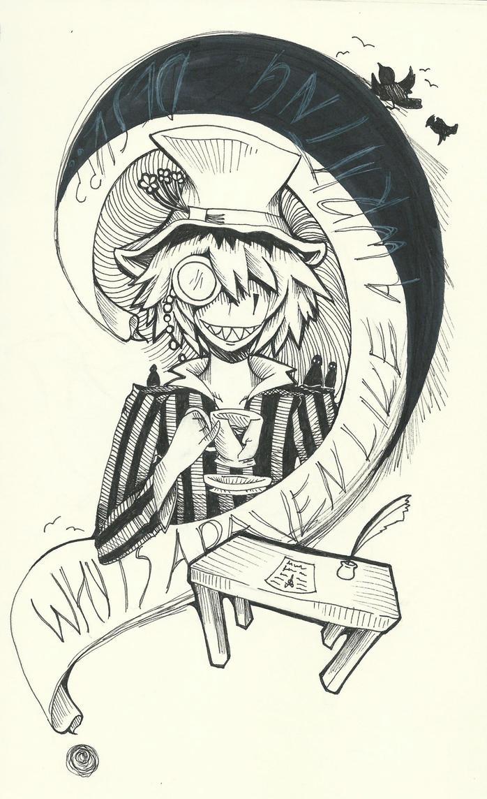 why is a raven like a writing desk    sick doodle by sarahkahlan on      rh   sarahkahlan deviantart com