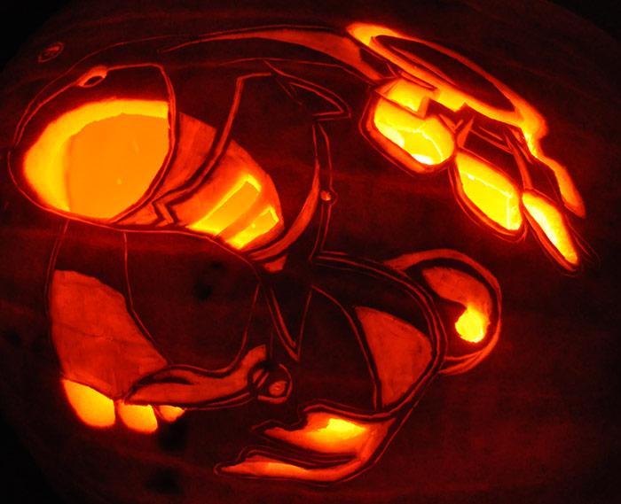 Kyogre Pumpkin Carving