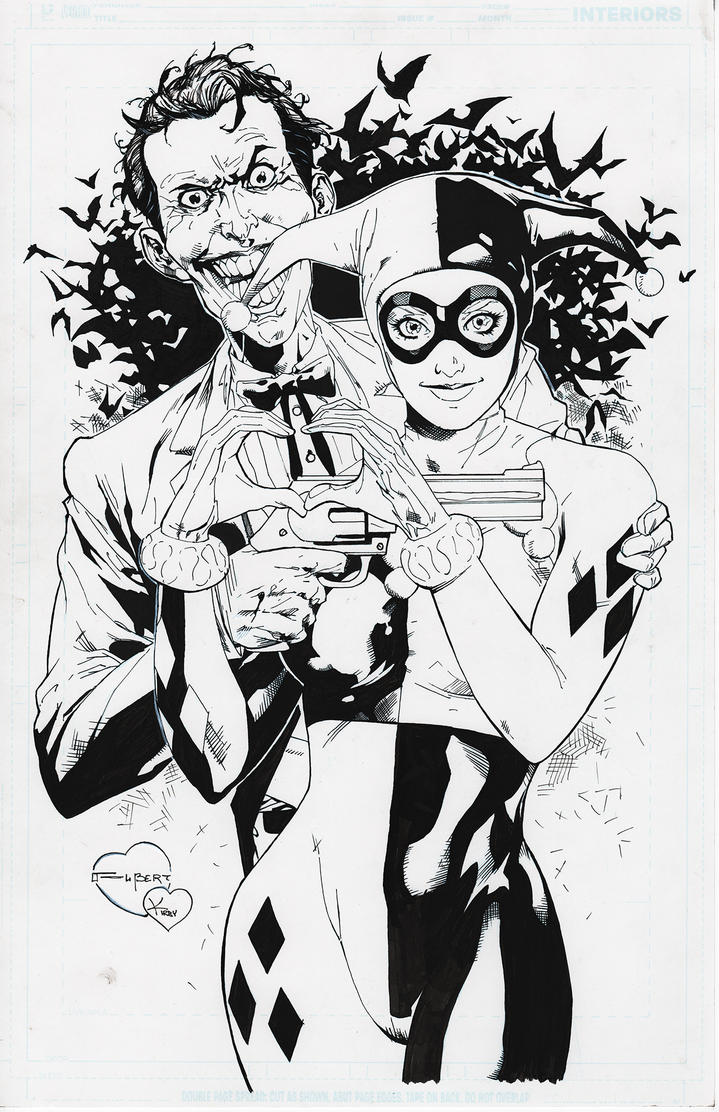 Joker and Harley Quinn Raw Scan by ryankirby