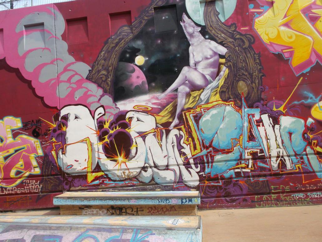 Marsille Skatepark graffiti by Jagodzianka84