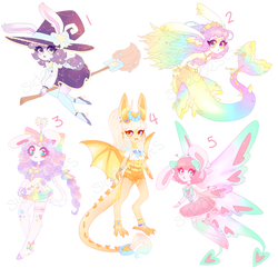 Fantasy Bunny Adopts [4/5 open] by sidequests
