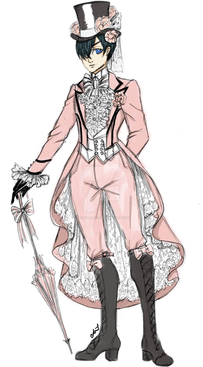 Lord Ciel in the Tranian Rose Outfit by TrulyTranian