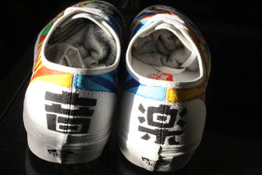 Breakdancing Panda shoes - back by dannyPs-customs