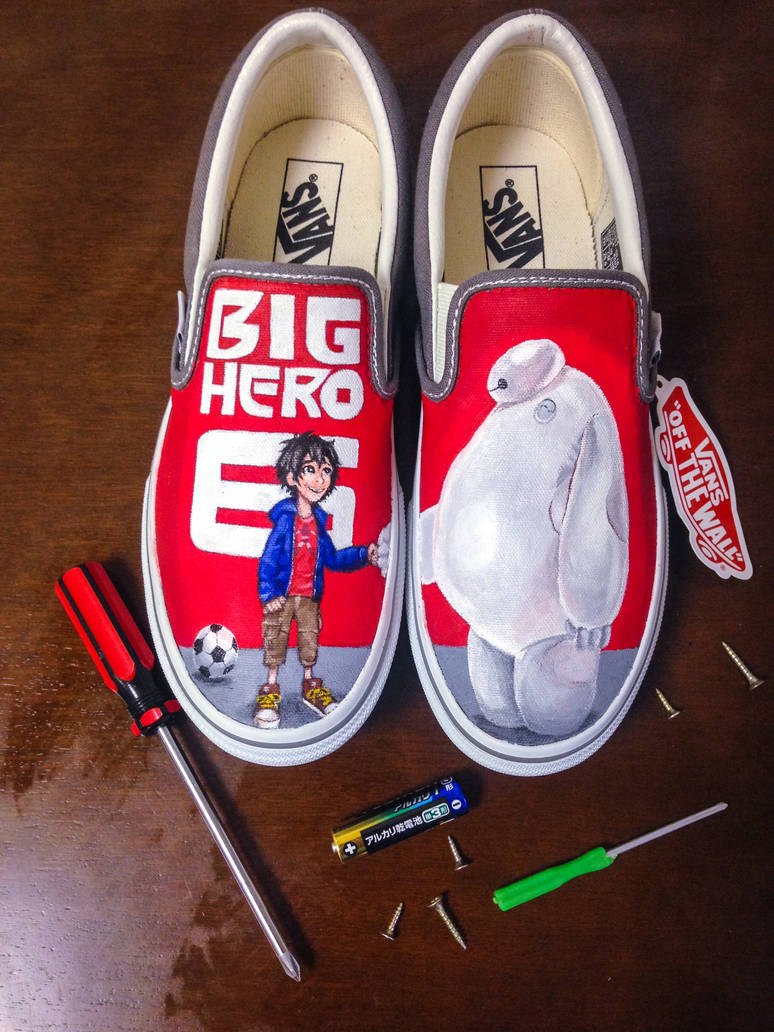 4e622f83ac6e4 Hand painted Big Hero 6 vans by dannyPs-customs on DeviantArt