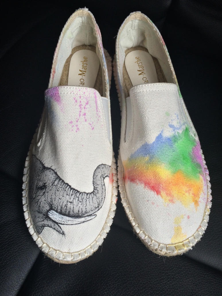 Hand Painted Sneakers Cardiff