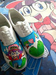 Custom painted Arale Chan Shoes