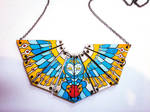 Hand Painted Owl Necklace by dannyPs-customs