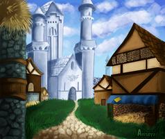 Hyrule Castle by Aviseya