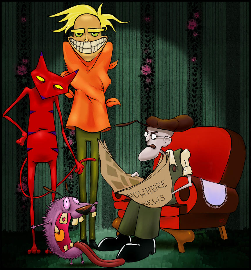 Courage the cowardly dog wallpaper fred - photo#17