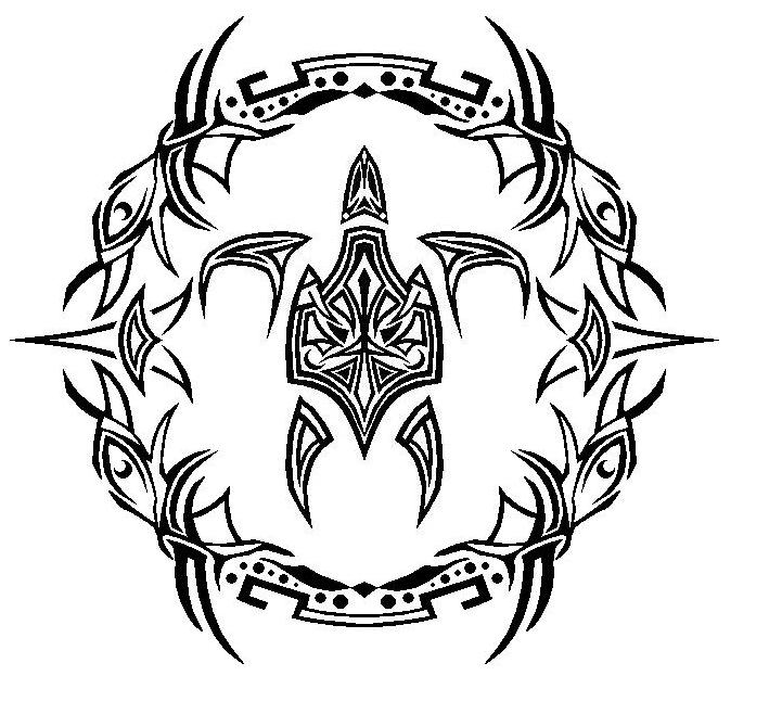Tribal Sea Turtle With Design by Master3Foamy on DeviantArt