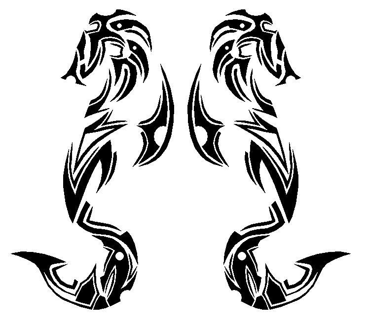 Tribal Scorpion By White Tigress 12158 On Deviantart: Tribal Seahorse By Master3Foamy On DeviantArt