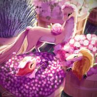 An Evening At The Florist Shop by Caliki