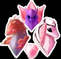 A Pink Trinity by Caliki