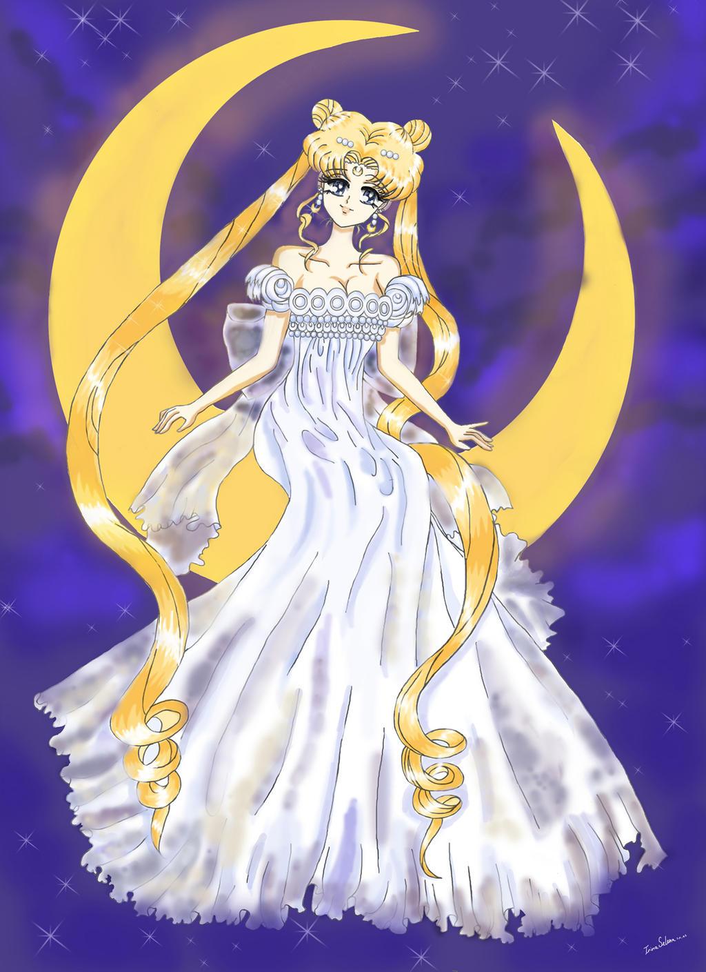 sailor moon princess serenity by irinaselena on deviantart